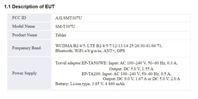 Samsung Galaxy Tab A4S battery details