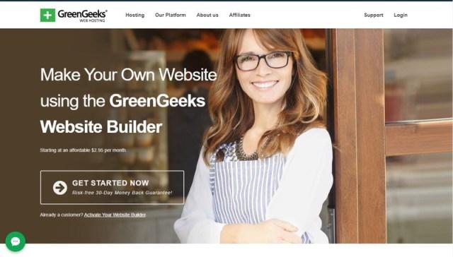 GreenGeeks website builders