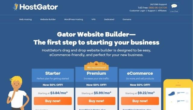 HostGator website builders