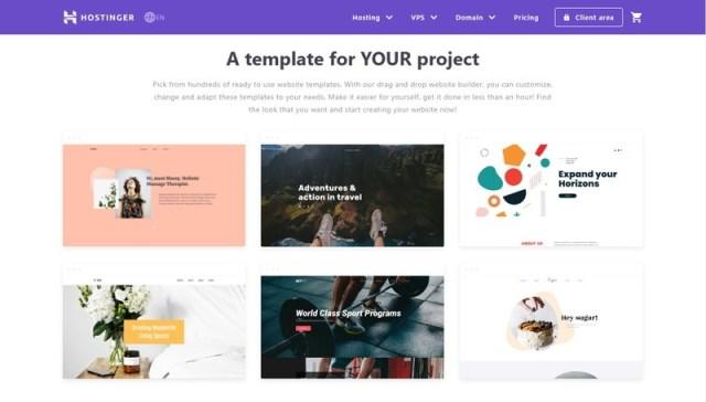 Hostinger website builders