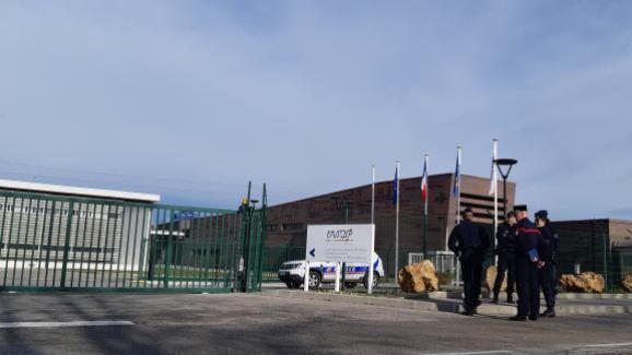 L\'Ensosp à Aix-en-Provence va accueillirla deuxième vague de rapatriés de Wuhan, le 2 février 2020.