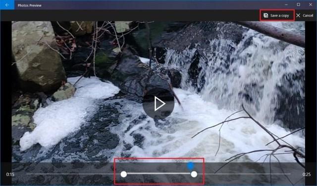 Video Trimming Process on Windows 10