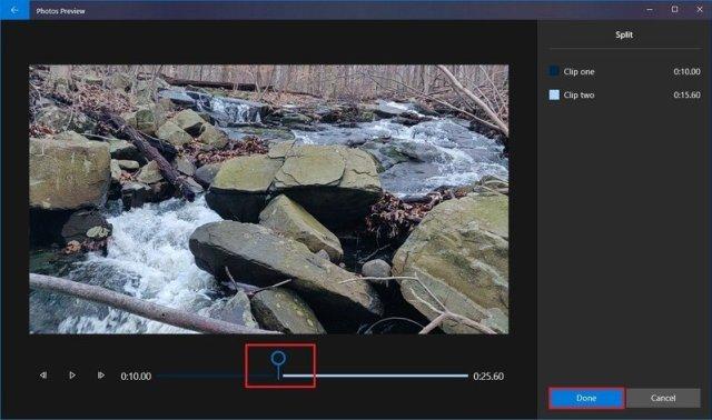 Photos split video tool