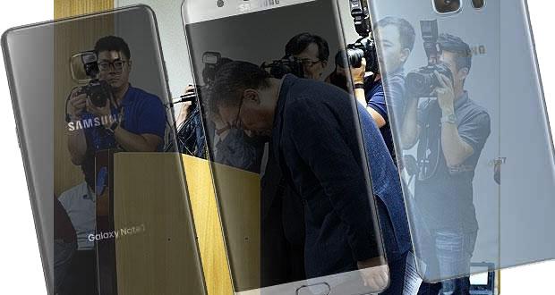 Affaire Galaxy Note 7, le patron de la branche mobile de Samsung, Koh Dong-jin, présente ses excuses.