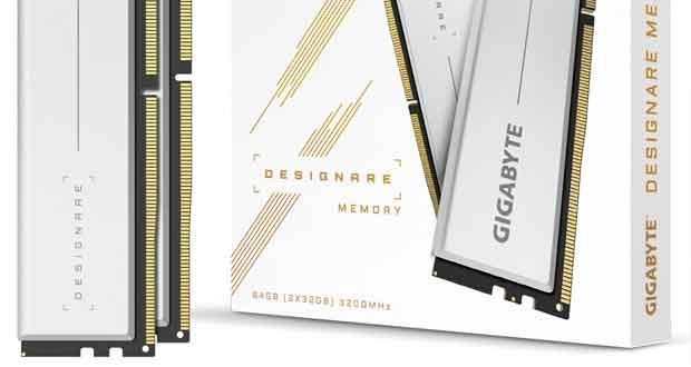 Kit mémoire 2x32 Go Designare DDR4-3200 CL18 de Gigabyte