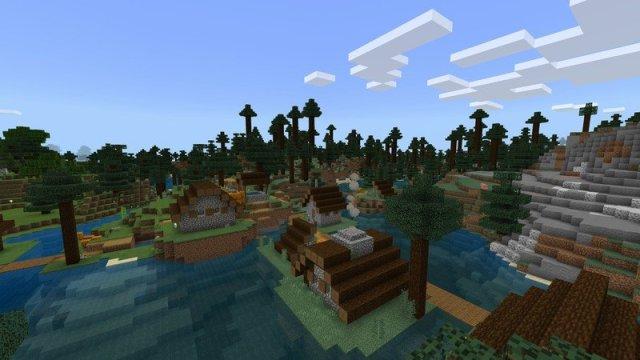 Minecraft taiga village