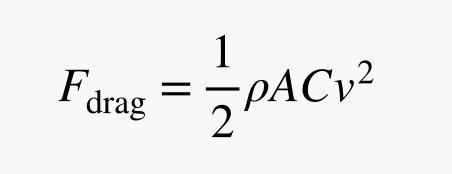 equation for fair drag
