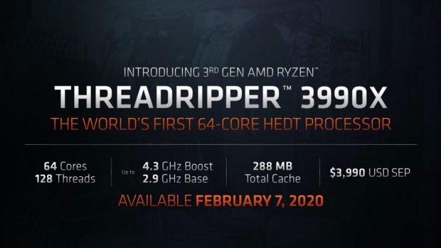 Ryzen Threadripper 3990X d'AMD