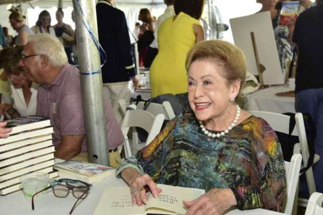 Mary Higgins Clark dans les Hamptons (New York), le 13 août 2016.