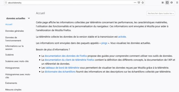 Mozilla transparent sur la télémétrie