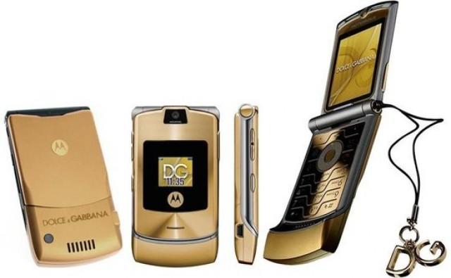 Limited edition Dolce & Gabbana Razr V3i