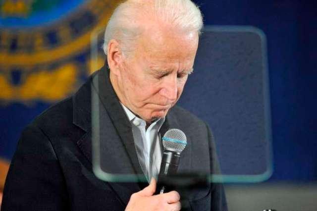 L'ancien vice-président Joe Biden, à Concord (New Hampshire), le 4 février.