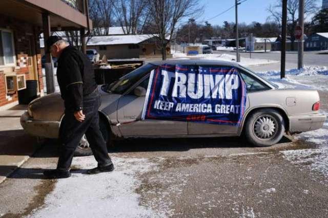 Un soutien de Donald Trump, le 16 janvier, dans l'Iowa.