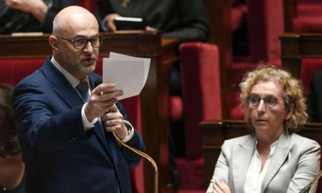 Laurent Pietraszewski, secrétaire d'Etat chargé des retraites, lors des questions augouvernement à l'Assemblée nationale le 11 février.