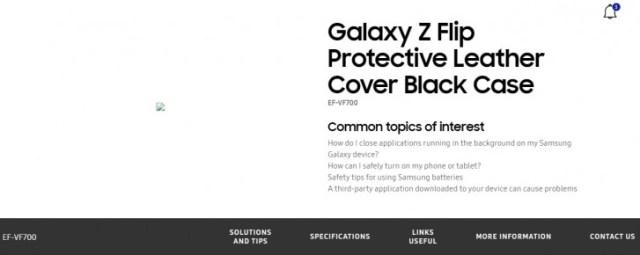 Samsung's official website confirms Galaxy Z Flip moniker