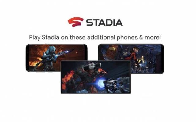 Google Stadia New Phones