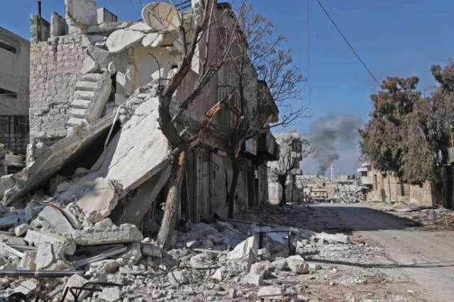 La ville deSaraqeb, dans la province d'Idlib, le 27février.
