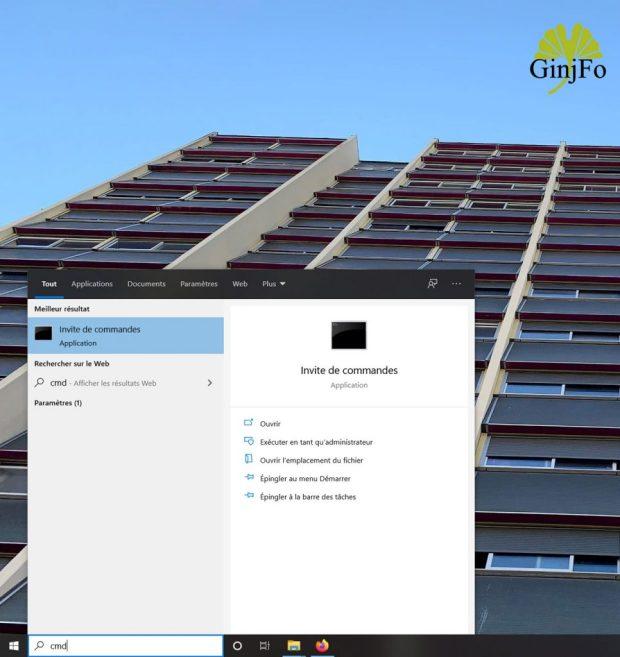 Windows 10 et l'invite de commandes