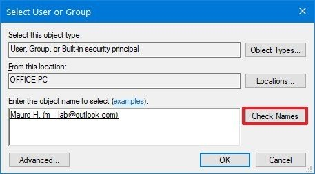 Windows 10 user and group settings