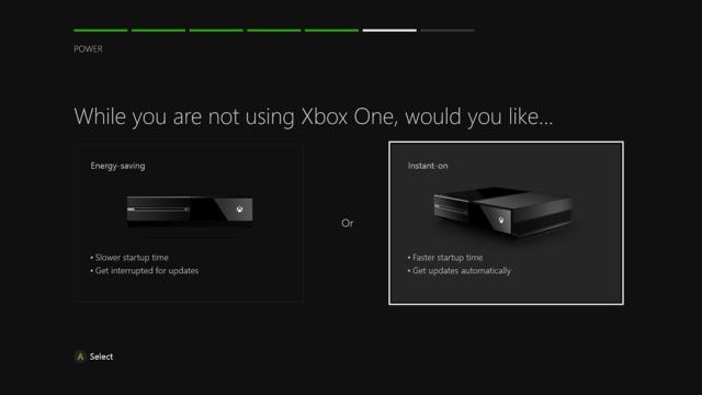Xbox One / Modes Instant On, Enerygy Saving