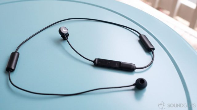 best wireless earbuds Beyerdynamic Blue Byrd: full image of the earbuds and cable.