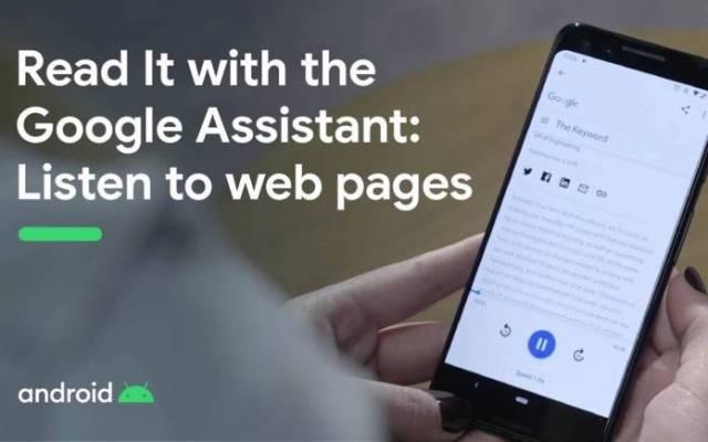 Google Assistant Web Page Reader