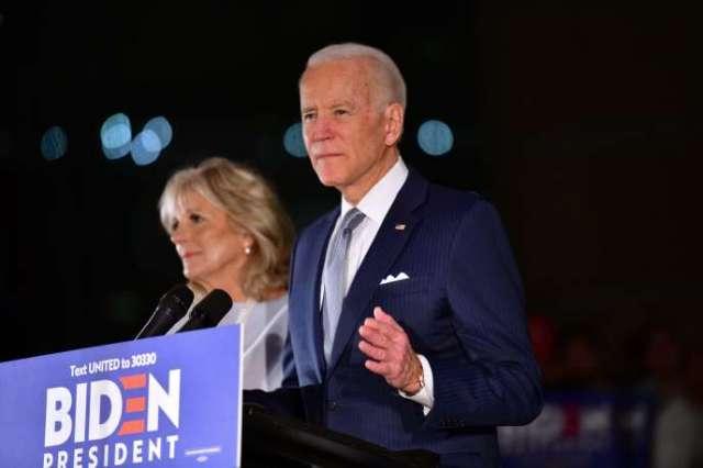 L'ancien vice-président amérircain Joe Biden lors d'un rassemblement à Philadelphie, le 10 mars.