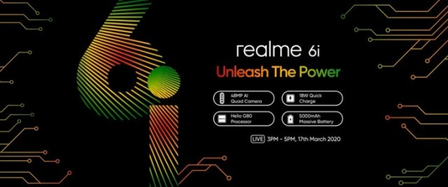 Realme 6i confirmed to feature waterdrop notch display, 16MP selfie camera and 5,000 mAh battery
