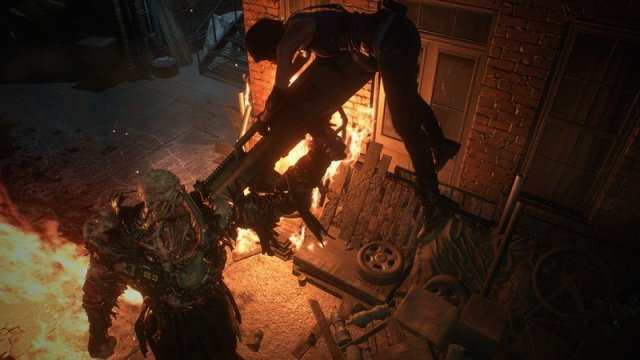 Resident Evil 3 remake Nemesis and Jill