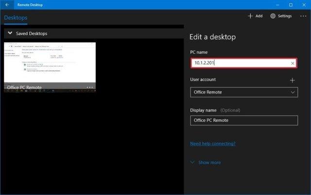 Remote desktop edit remote access settings
