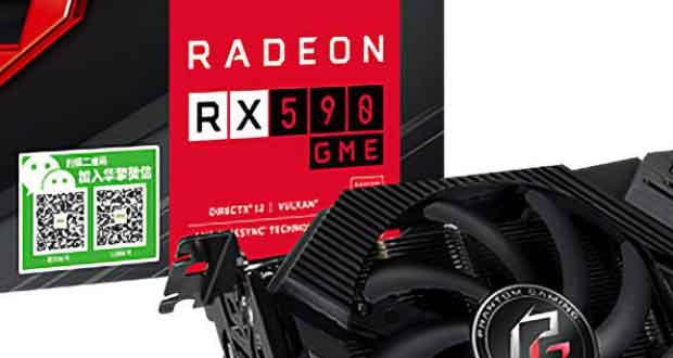 Radeon RX 590 GME Phantom Gaming 8G OC Edition d'ASRock