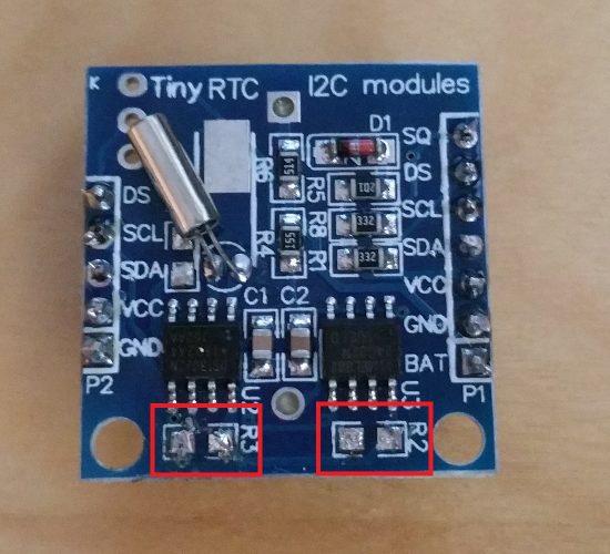 Raspberry Pi Tiny RTC I2C Modules