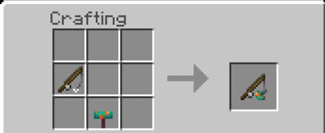 Minecraft Fungus Stick Crafting Recipe