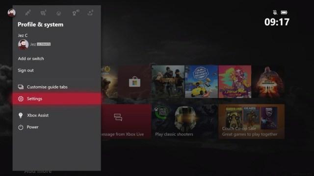 Xbox Settings Energy Saving
