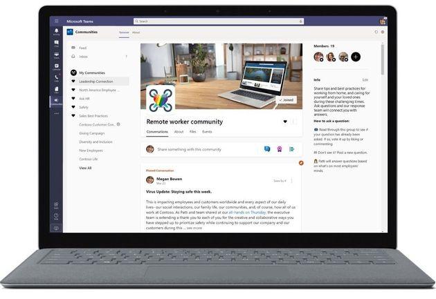 Microsoft Teams: la nouvelle application Yammer,