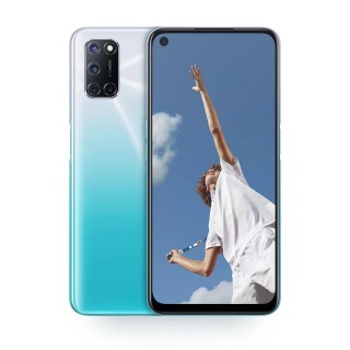 Oppo A52 in black and blue