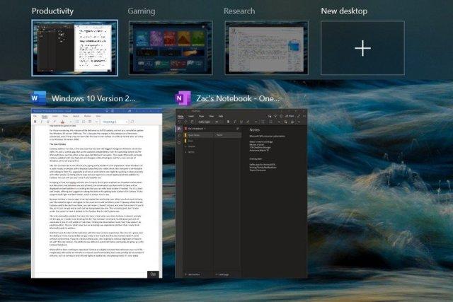 Windows 10 2004 Virtual Desktops