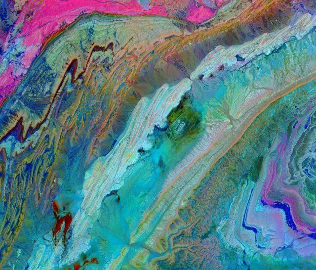 oilslick image of AntiAtlas mountains