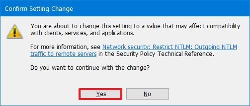 Group Policy Editor confirm policy