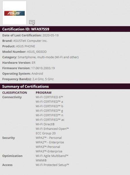 WiFi certification