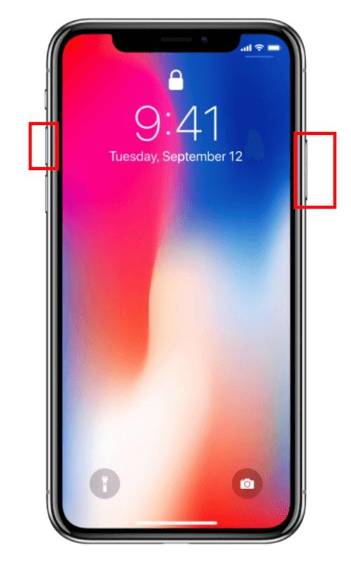 Comment faire capture d'écran iPhone iPad Face ID
