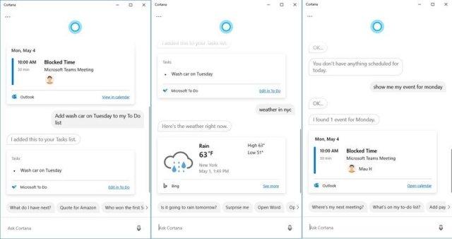 Cortana skills on 2020