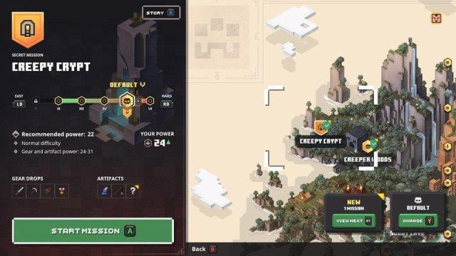 Minecraft Dungeons Creepy Crypt Map