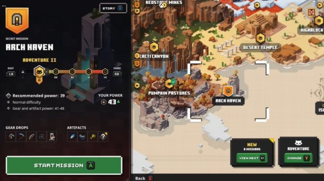 Minecraft Dungeons Arch Haven Map