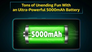 5,000mAh battery with 10W charging
