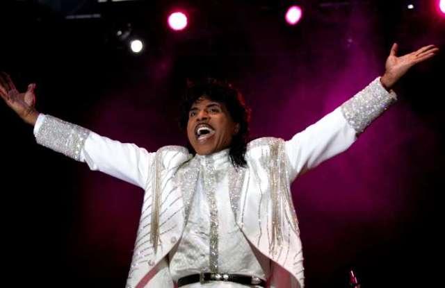 Le chanteur américain Little Richard, en juillet 2005, en Espagne.