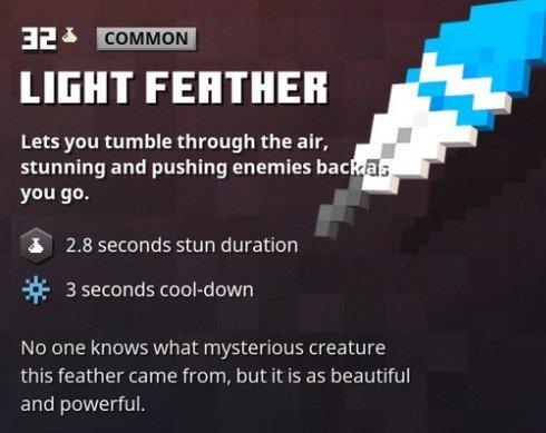 Minecraft Dungeons Light Feather