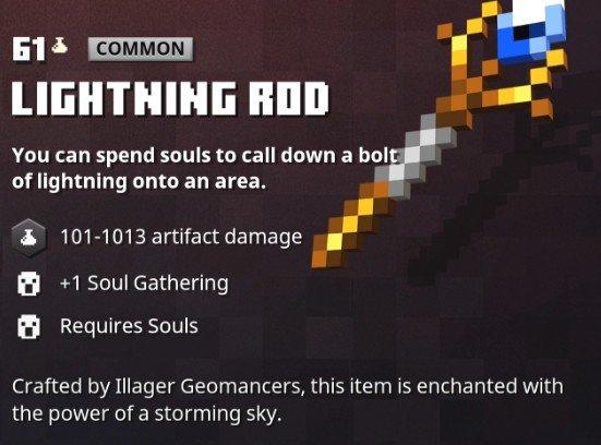 Minecraft Dungeons Lightning Rod