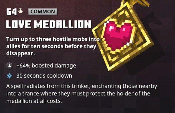 Minecraft Dungeons Love Medallion