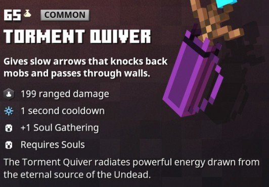 Minecraft Dungeons Torment Quiver